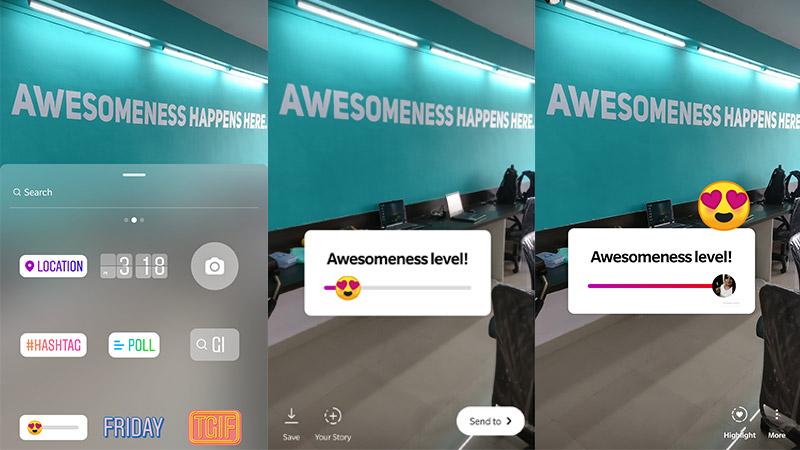 New - Instagram Stories Emoji Slider: Millennial innovation