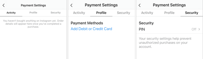 payments on Instagram