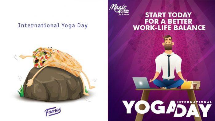International Yoga Day campaigns