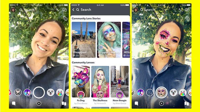 snapchat community lenses