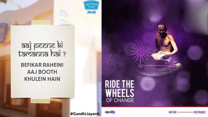 Gandhi Jayanti creatives