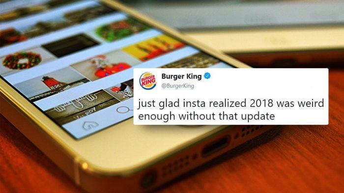 Instagram swipe feed
