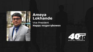 Ameya Lokhande #SS40under40