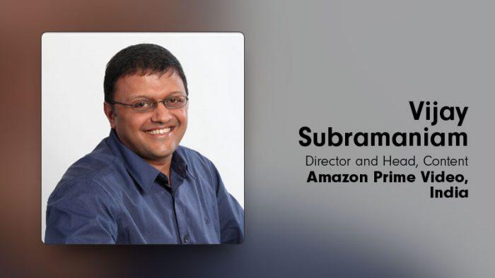 Vijay Subramaniam Amazon Prime Video India