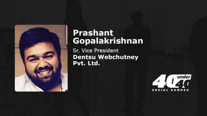 SS40under40: Prashant Gopalakrishnan