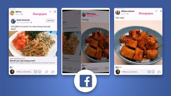 Facebook Swipeable Feed