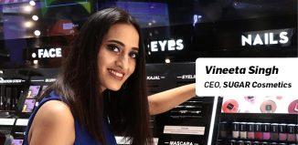 Vineeta Singh, CEO SUGAR Cosmetics
