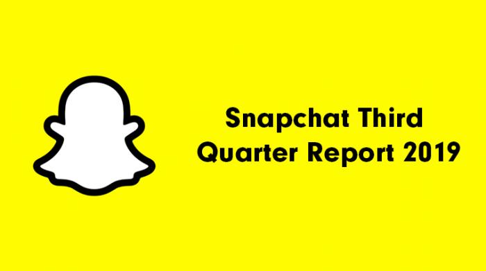 Snapchat Third Quarter Report 2019