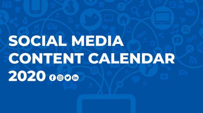 Social Media Calendar 2020