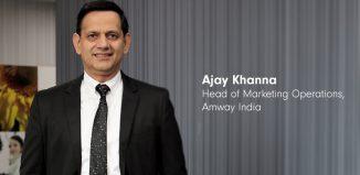 Ajay Khanna Chief Marketing Officer Amway