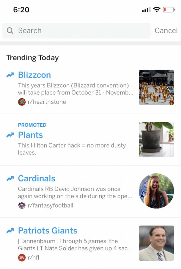 Reddit Trending Takeover
