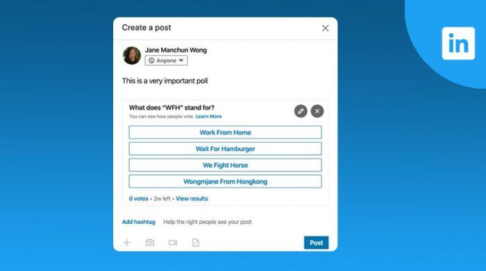LinkedIn testing