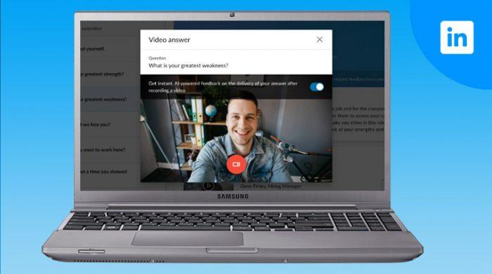 LinkedIn video interview
