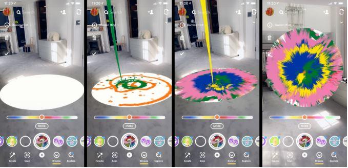 Snapchat AR experience