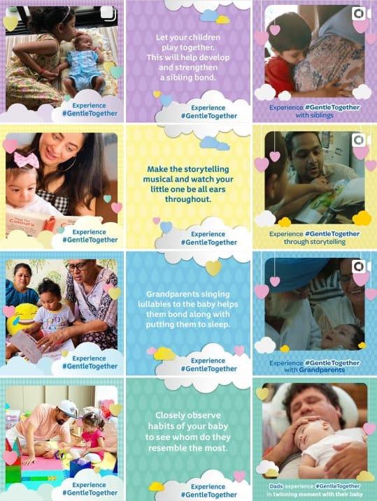 Johnson's Baby India Social Media Strategy Instagram grid 2