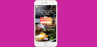 Instagram food order discovery sticker