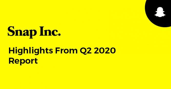Snap Q2 2020 Report