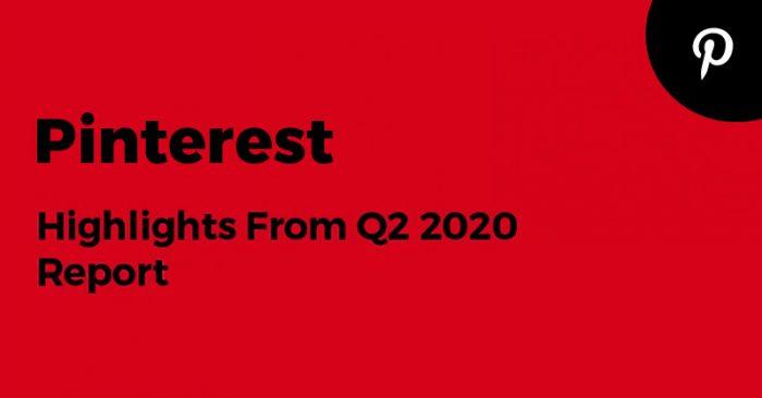 Pinterest Q2 2020