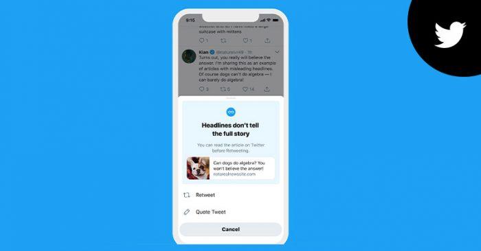 Twitter prompt