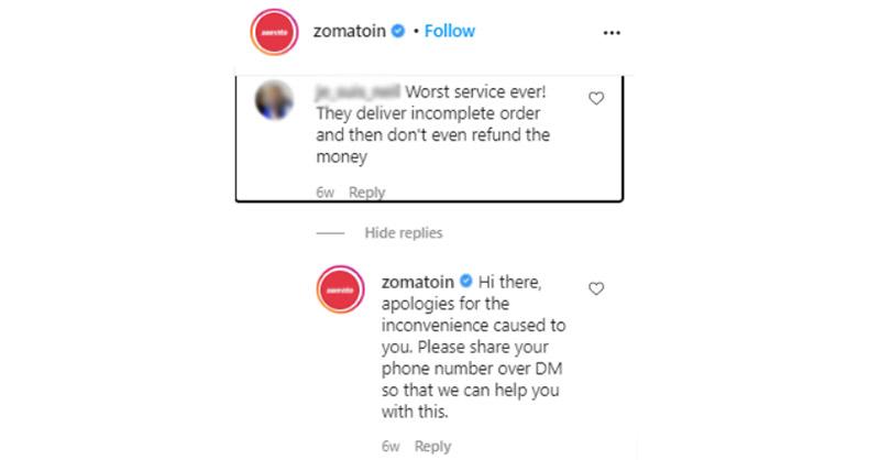 social media negative review