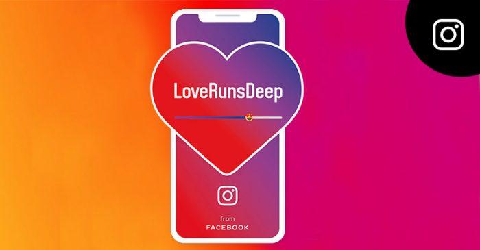 Instagram love runs deep campaign