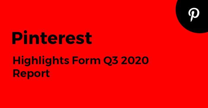 Pinterest Q3 2020