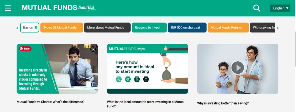Mutual Funds Sahi Hai microsite