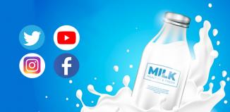 milk brands social media marketing