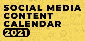 Social Media Calendar 2021