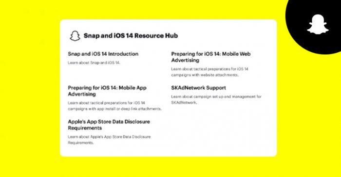 Snapchat iOS 14
