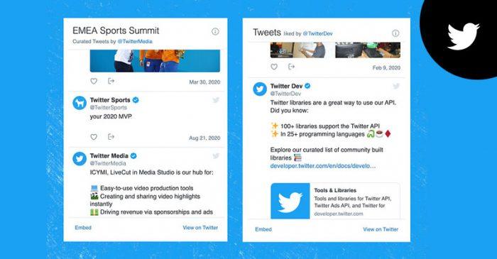 Twitter embedded timelines